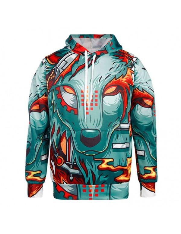 3D Digital Print Couple Hoodies Unisex Teenagers Loose Tops Men Sweatshirts